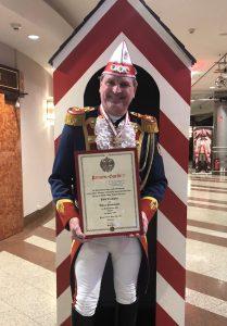 Beförderung unseres Kommandanten Dirk Trampen zum Ehren-Hauptmann der Prinzengarde Köln